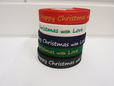 2 or 20 metres 15mm Happy Christmas with Love Woven Ribbon Xmas Roll Craft